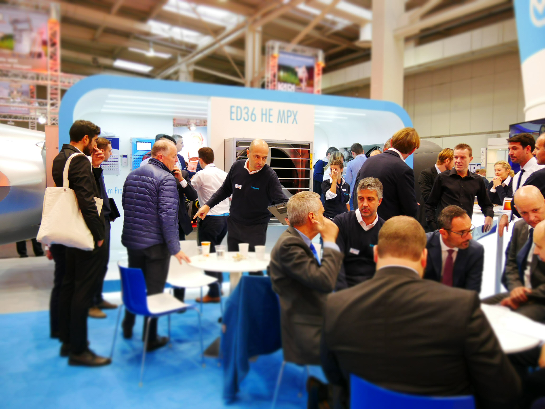Visitors at Munters stand EuroTier 2016