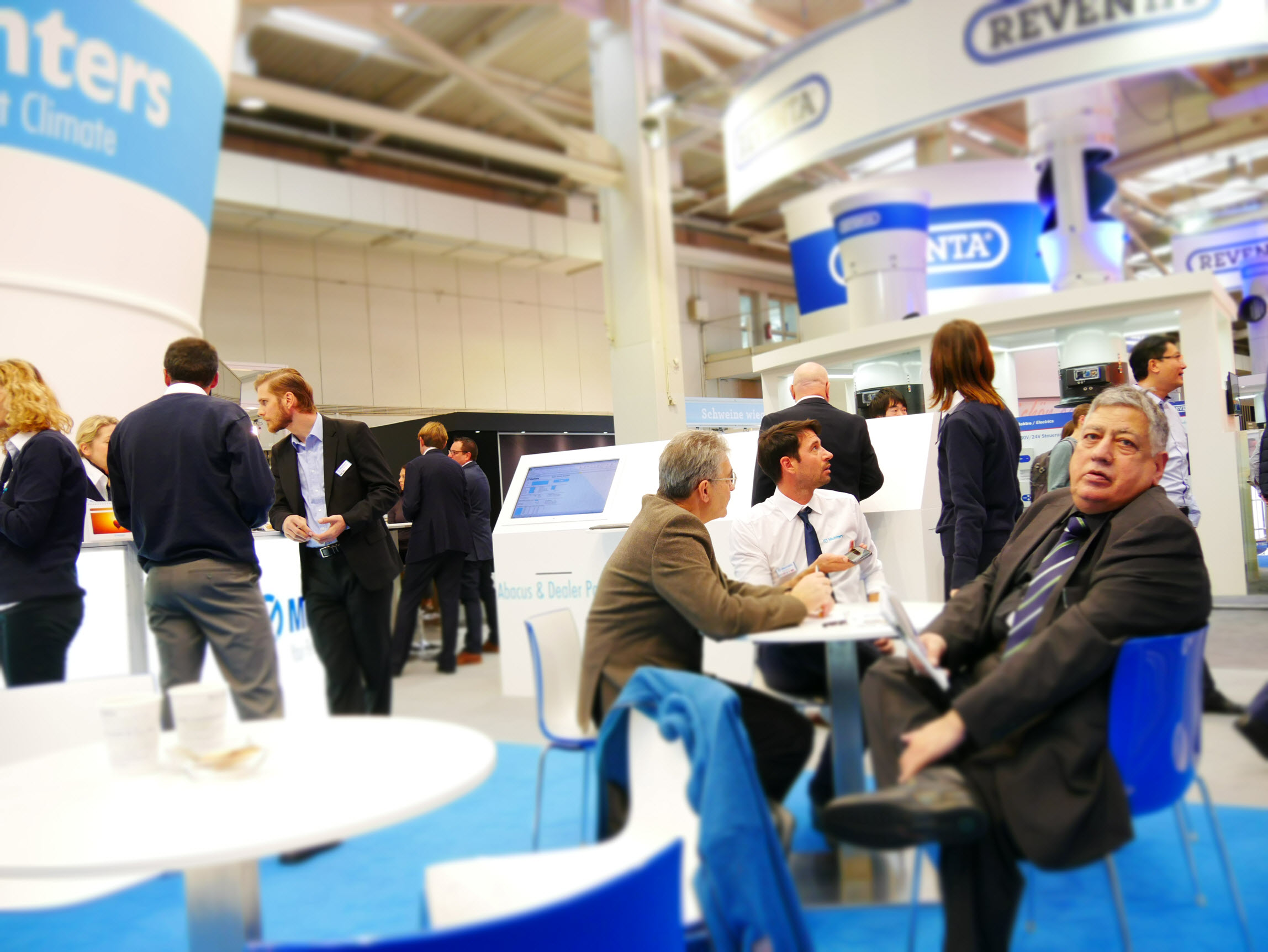 Discussions at Munters stand EuroTier