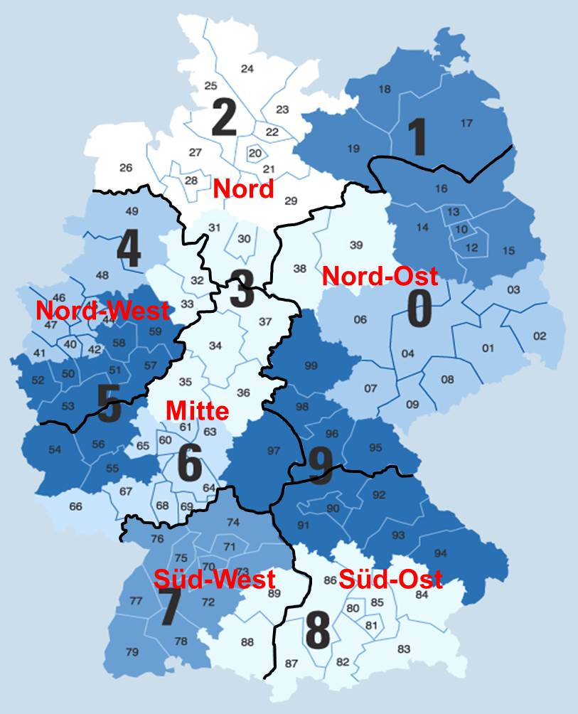 Districts Germany