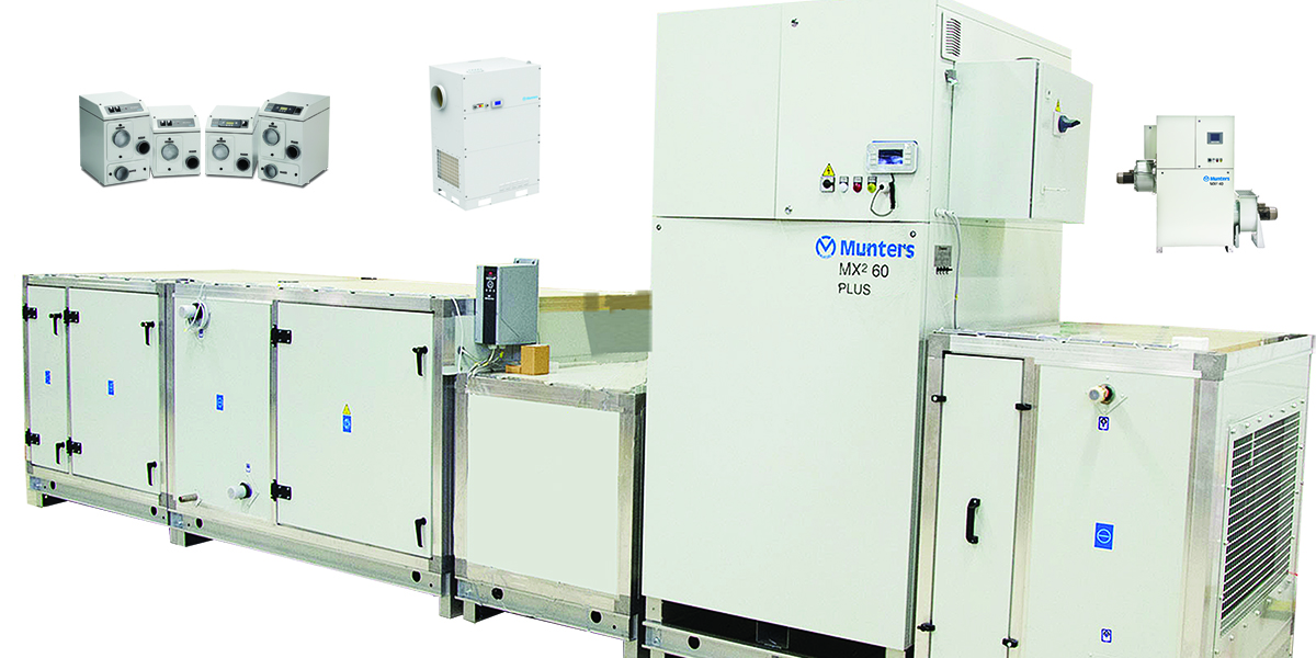 Munters dehumidifiers and climate control systems