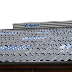 Natural ridge ventilation, galvanised